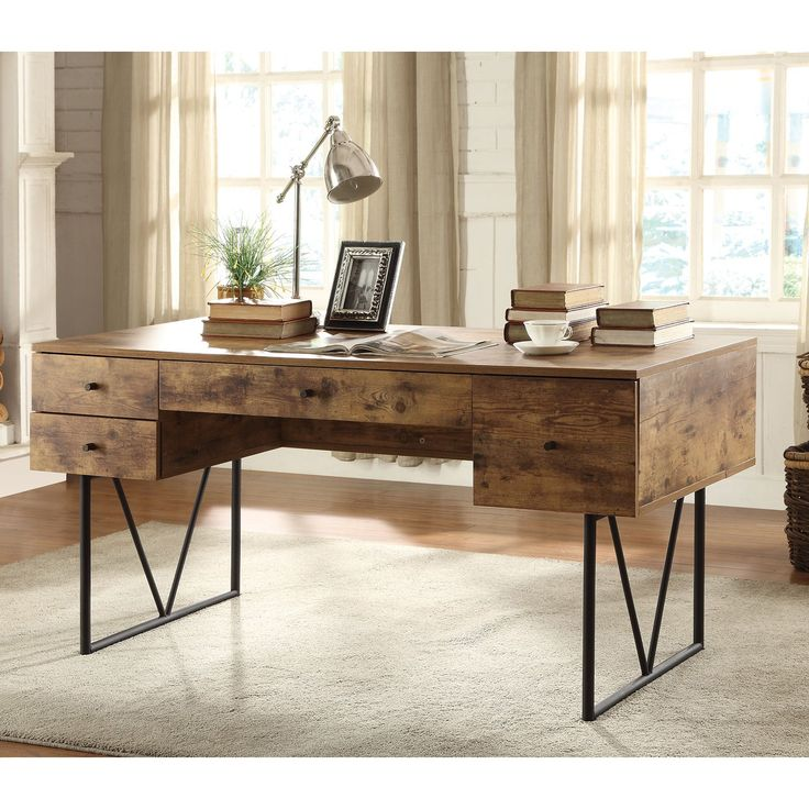 Coaster Furniture Writing Desk with V-Shaped Legs | from hayneedle.com