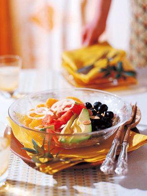 【ELLE a table】アボカド、オレンジ、トマトのサラダレシピ|エル・オンライン