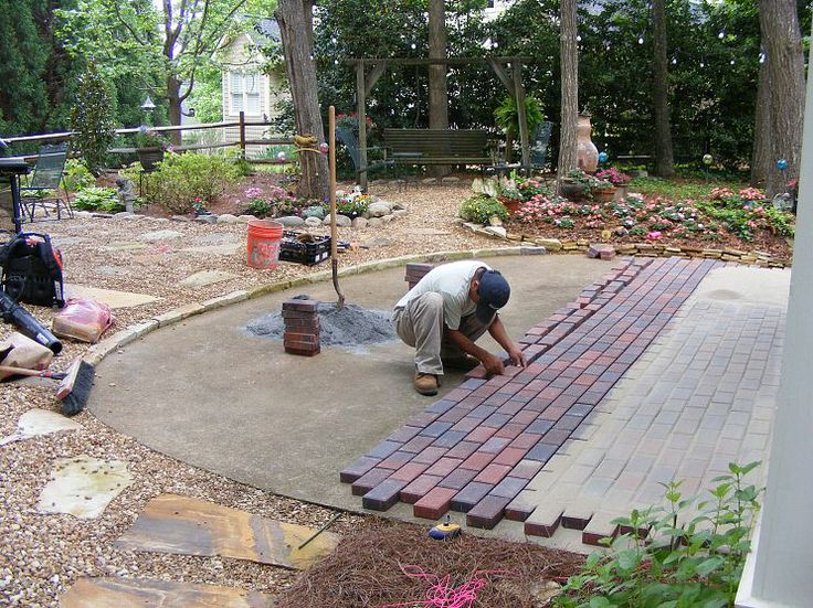 84 best images about patio pavers on pinterest blacktop for Installing patio pavers on sand