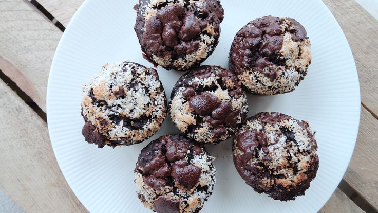 chocolade muffin haver banaan