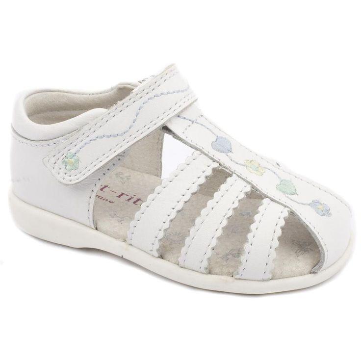 Startrite Cadenza Girls White Leather Velcro Summer Sandals Medium Sizes 3 - 8