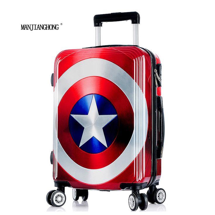 安い2016新しい高品質キャプテンアメリカスーツケース荷物/男性&女性マーベル輪スーツケース/トロリー旅行荷物/polo荷物、購入品質Hardside荷物、直接中国のサプライヤーから:2016新しい高品質キャプテンアメリカスーツケース荷物/男性&女性マーベル輪スーツケース/トロリー旅行荷物/polo荷物