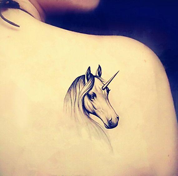 1pc Unicorn temporary tattoo fake tattoo body art small tattoo