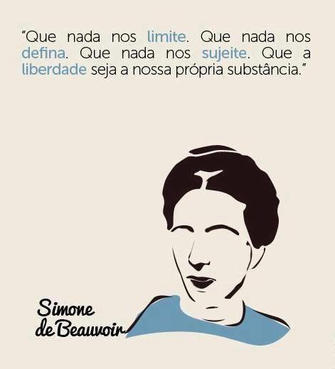 Simone de Beauvoir — Olá, pessoal. Tenho recebido perguntas sobre...