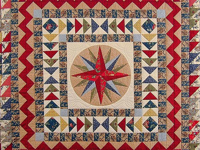 Quilting Patterns Mariner S Compass : 126 best images about Quilt Mariner s Compass on Pinterest Quilt designs, Quilt and Kaleidoscopes