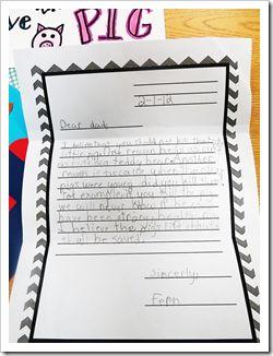Persuasive letter writing using Charlotte's Web