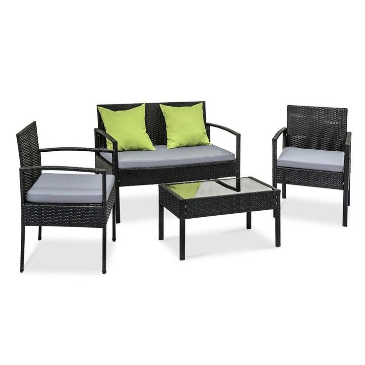 4 Seater Patio Set Outdoor Furniture W/- Cushions $283.90 Free Delivery Aus Wide