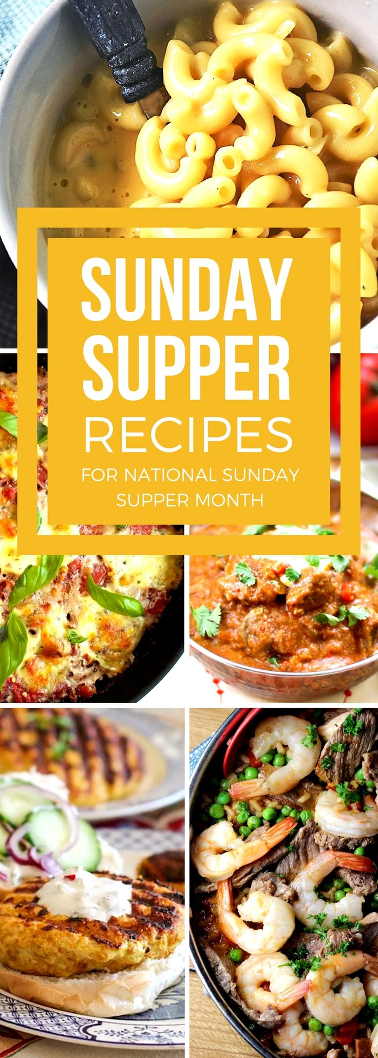 Bring your family back to the dinner table with our favorite Sunday supper recipes. These easy recipes are timeless classics that you and your family will love! With choices from delicious baked casseroles and pastas to flavorful chicken and beef recipes, your perfect family dinner will be waiting at the table to bring everyone together. #SundaySupper #EasyRecipes #DinnerRecipes #ComfortFoodRecipes