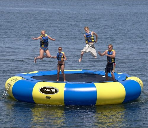 20 ft. RAVE Sports Aqua Jump Eclipse Water Trampoline Package - Water Trampolines at Hayneedle