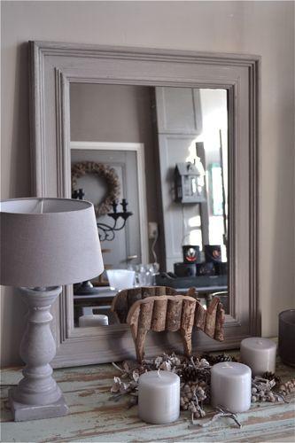 17 beste idee n over brocante spiegel op pinterest antieke spiegel spiegel tegels en vintage - Grote spiegel voor de woonkamer ...