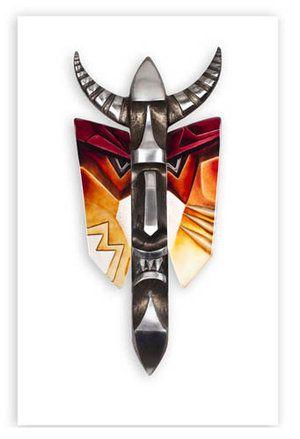 Mefisto II (Vägg) Ltd Ed 9ex av Mats Jonasson som även finns i smycken, men detta verk i järn och kristall med storleken 89 cm.