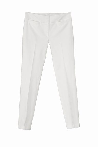 PRINCE slim leg pant in stretch piquet (less is more)