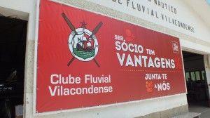Lona produzida para o Clube Fluvial Vilacondense.