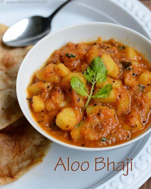 Aloo bhaji recipe - No onion no garlic easy side dish for puri and mild pulao.