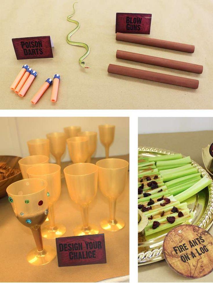 indianjones birthday party invitations printable%0A LEGO Indiana Jones Birthday Party Ideas