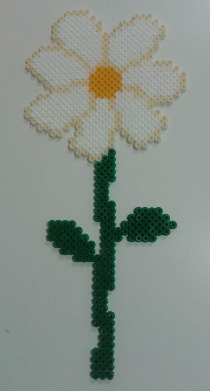 Daisy flower hama beads