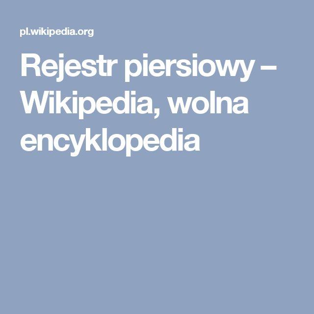 Rejestr piersiowy – Wikipedia, wolna encyklopedia