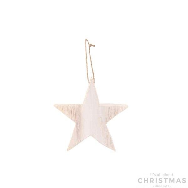 Christmas tree decorations, beautiful wooden star with hanger.