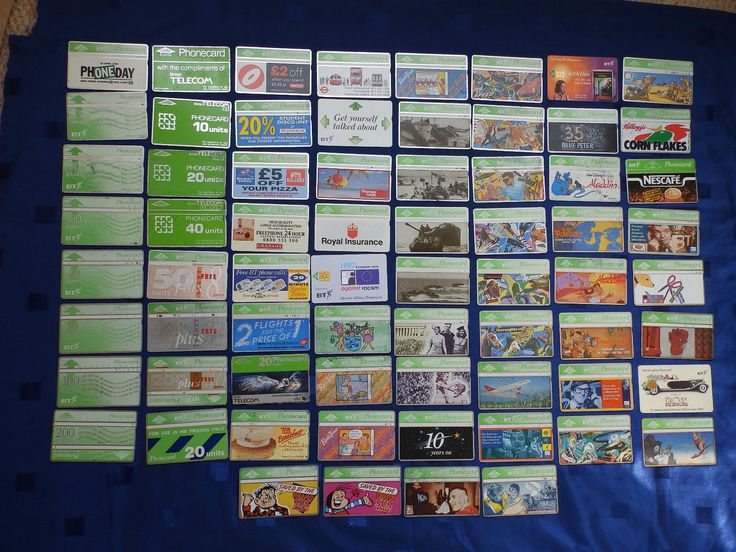 Collection of 68 used BT phone cards