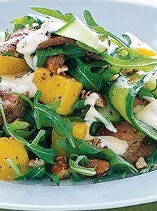 Skinny Summer Salads - Lamb mango and pecan salad