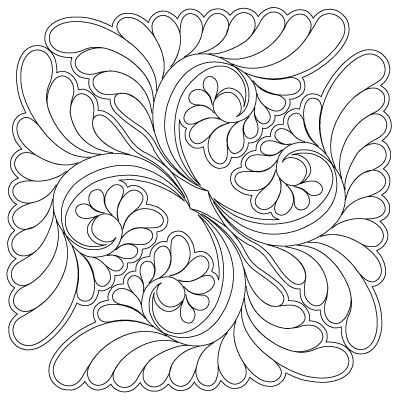 Continuous line quilting design and lots of design ideas on this site!