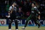 Umar Gul of celebrates after bowling Brendon McCullum (L) of New Zealand, Pallekele, 23 September