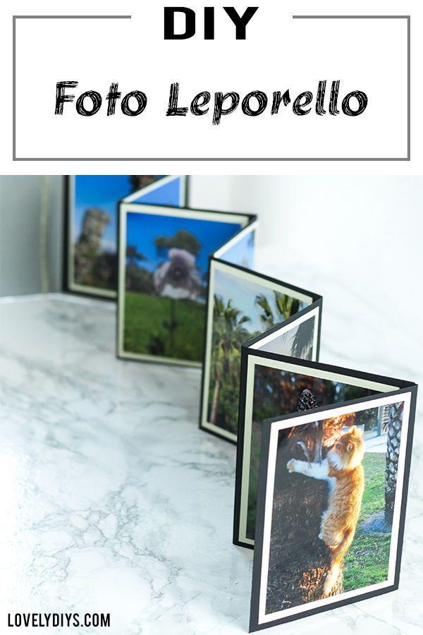 DIY Foto Leporello aus Papier basteln Runas Pappschachtel Notizbücher, Bullet Journal, Planen, journaling