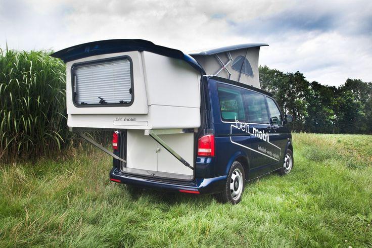 Bettmobil  Slideout Bed Box VW T5  Aufstelldach - Hubdach - Schlafdach  Camper Bus  Campervan  Rolf Hänle  www.bettmobil.de  Camping  Idee  Reisen  Travel  Ferien  Holidays
