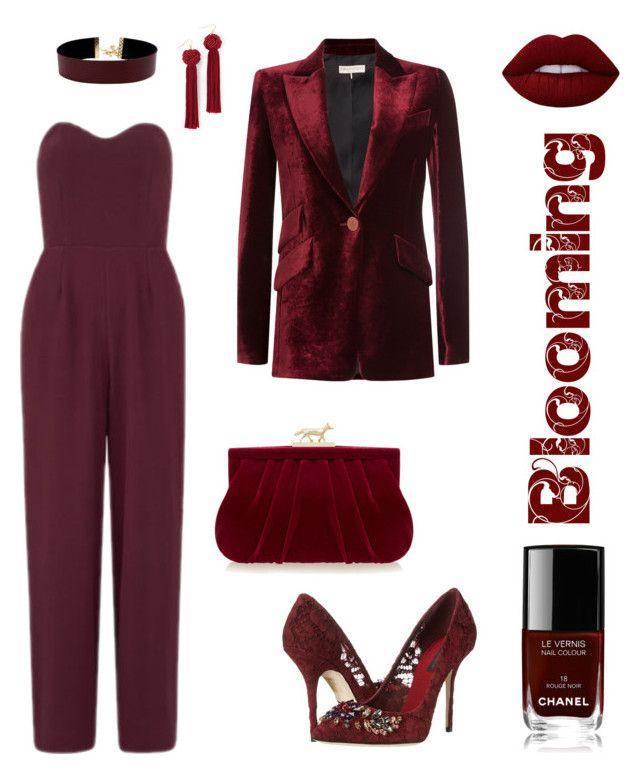 """Marsala"" by kseniavarlamova on Polyvore featuring мода, Love, Dolce&Gabbana, Vanessa Mooney, Wilbur & Gussie, Emilio Pucci, Lime Crime и Chanel"