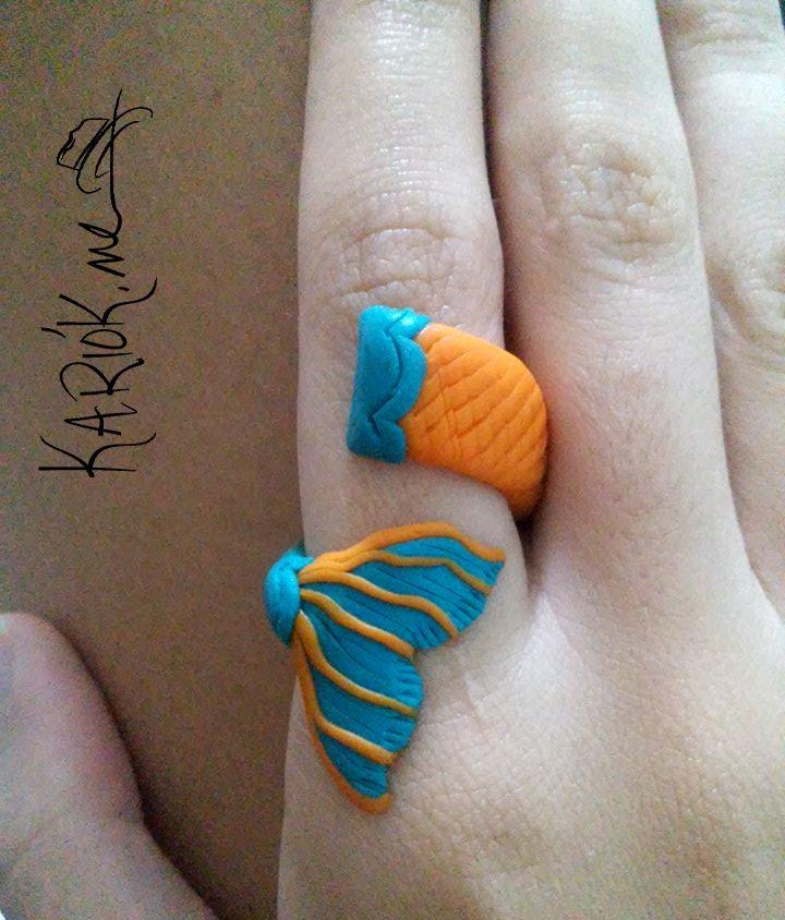 Anel Mermaid   Kariók.me Linha Cores   #acessórios #ceramicaplastica #handmade #coleçãometonímia sereismo