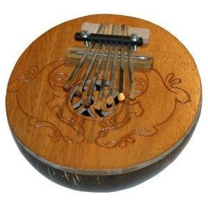 Kalimba Thumb Piano, Coconut Shell, 7 Keys.