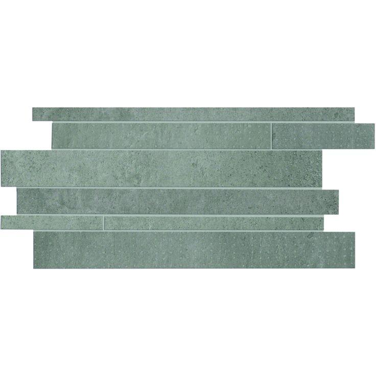 Mosaïque décor carrelage effet béton 30x60 Mix Titan Track Naturel Rectifié, Gravity Cercom