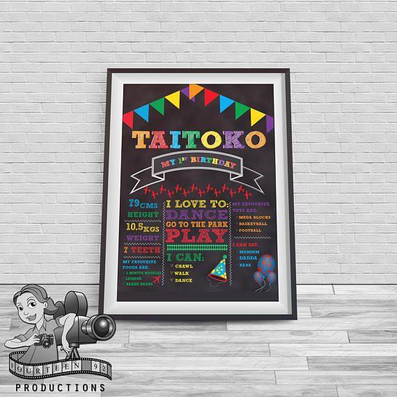 Rainbow Chalkboard Milestone Poster