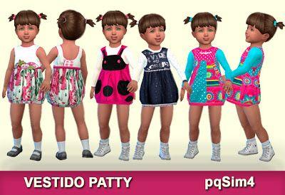 The Sims 4 Mody: sukienki dla małych dziewczynek od PqSims 4
