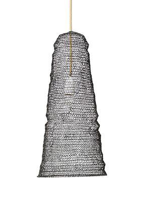 Marmoset Found Spiral Weave Cone Pendant