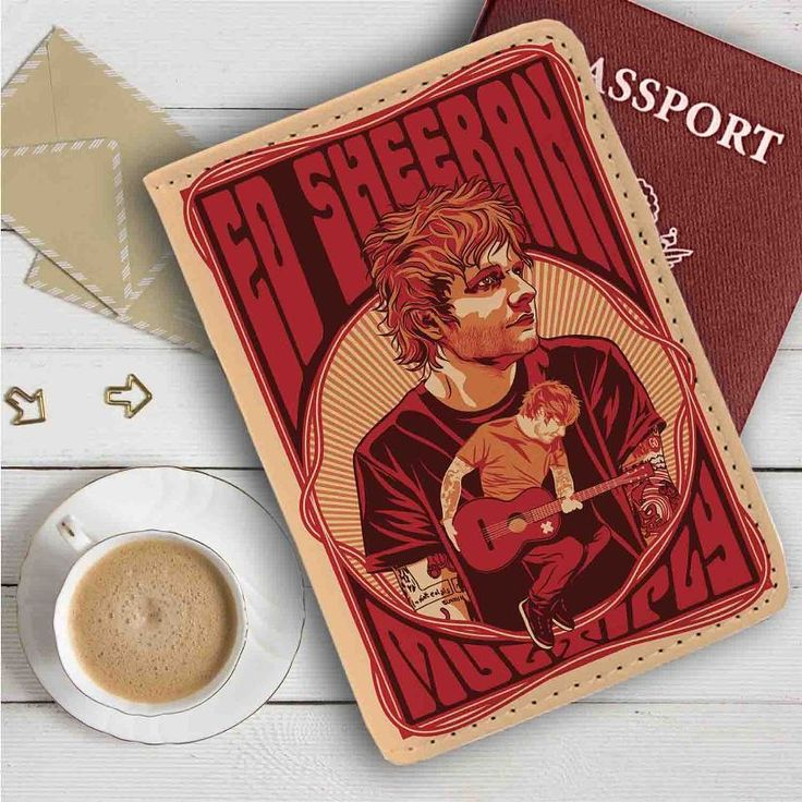 Ed Sheeran Leather Passport Wallet Case Cover
