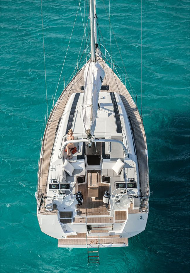 The wealthy cruise between the Realms in their yachts, making for some variety amongst the usual container ship and military traffic    Realworld: Beneteau Oceanis 55