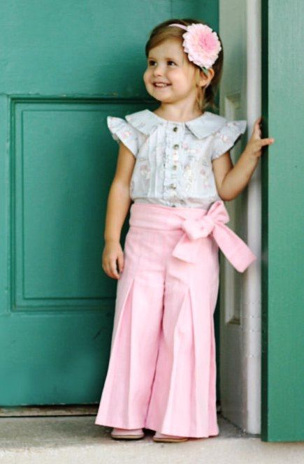 Whitney's Pleated Waist Sash Capris or Pants in Various Fabrics