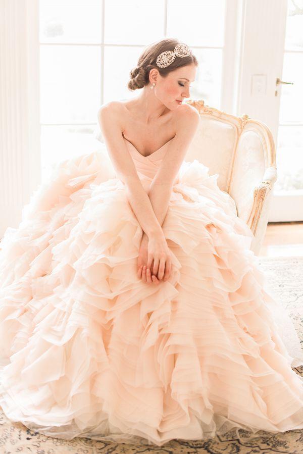ドレス✳︎Now Trending: Blush Pink Vintage Inspired Wedding Ideas