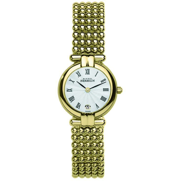 Michel Herbelin Ladies Gold Plated Perle Bracelet watch.
