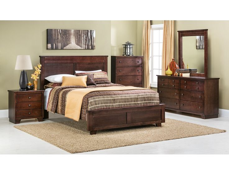 Diego Collection Bedroom Set Diego 4 Piece Queen Bedroom Set In Dark Brown Nebraska Furniture