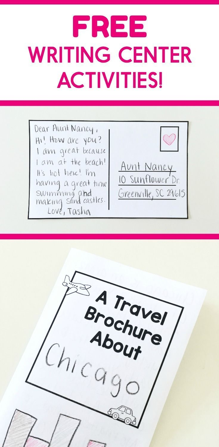 Kid Friendly Directions Writing Center Activities Writing Center Elementary Writing Free writing center activities for