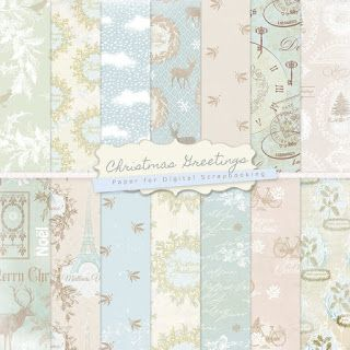 New Freebies Kit of Winter Backgrounds - Merry Christmas