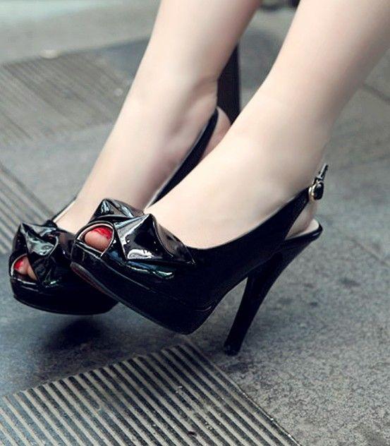 #Buckle Design#Buckle Design Bowknot High Heels Pumps Black http://www.clothing-dropship.com/buckle-design-bowknot-high-heels-pumps-black-g1655060.html