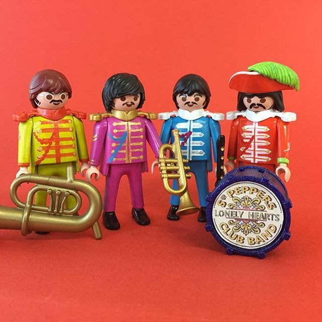 playmobil Beatles sgt peppers lonely hearts club band #custom