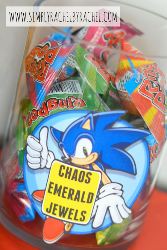 Sonic Party snacks Chaos Emeralds