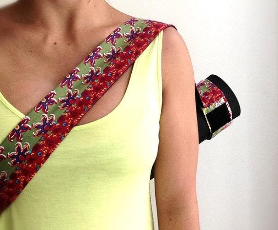 Velcro Adjustable Yoga Mat Sling by YogaTotesSydney on Etsy, $49.00
