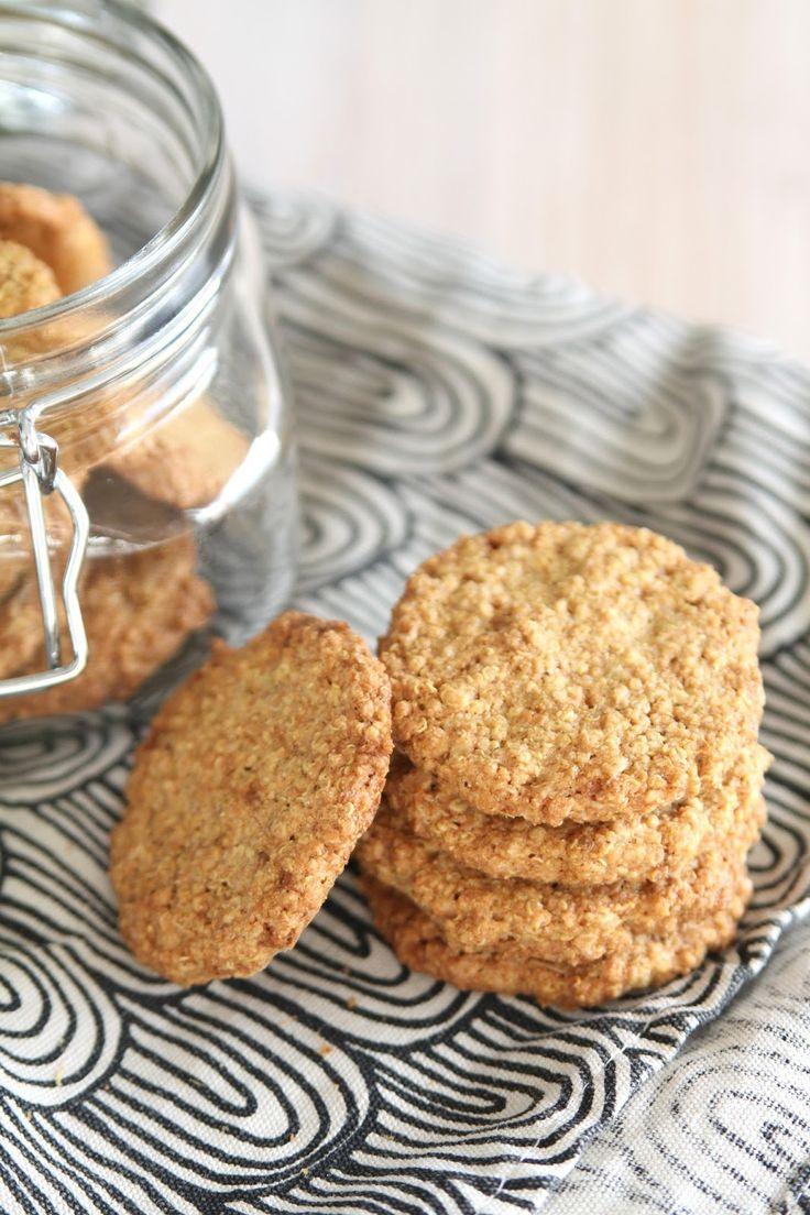 Vatsan vapaapäivä: Inkivääriset kvinoa-kaurakeksit (gluteenittomat)