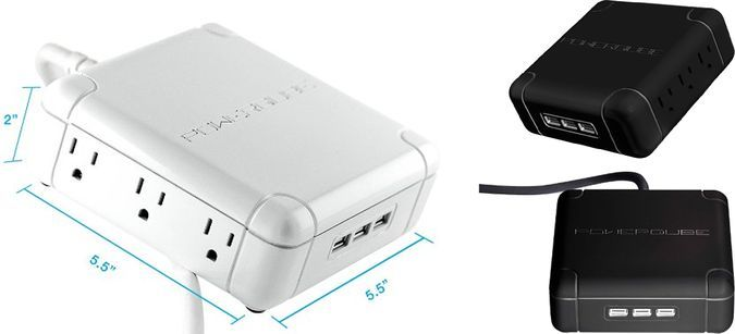 PowerQube - Smart Charging Outlet Wirth 6 Electrical Plugs and 3 USB Chrging Slots - Measures, White and Black Versions http://coolpile.com/gadgets-magazine/powerqube-efficiently-power-9-gadgets-time/ via coolpile.com   #Office #PowerOutlets #SurgeProtectors #Travel #coolpile