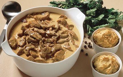 Enebærgryde med bagt kartoffelmos